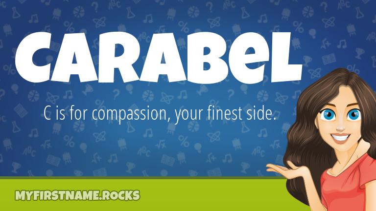 My First Name Carabel Rocks!