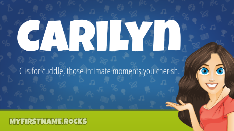 My First Name Carilyn Rocks!