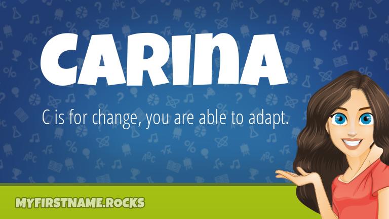 My First Name Carina Rocks!