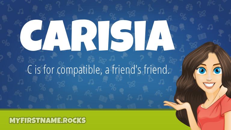 My First Name Carisia Rocks!