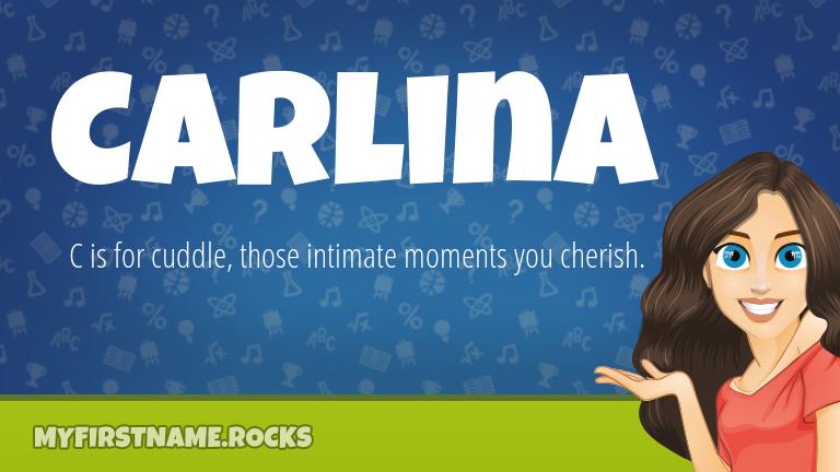 My First Name Carlina Rocks!