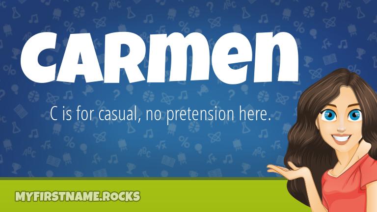 My First Name Carmen Rocks!