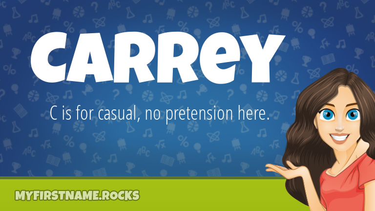 My First Name Carrey Rocks!