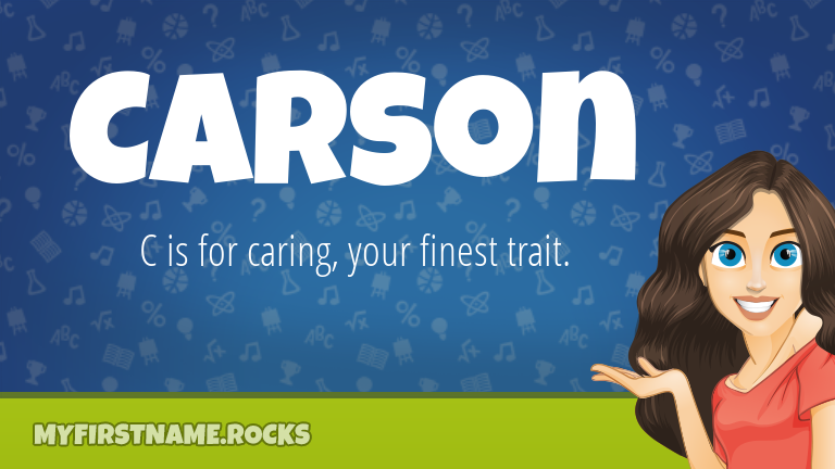 My First Name Carson Rocks!