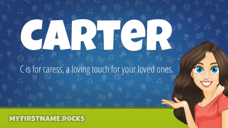 My First Name Carter Rocks!