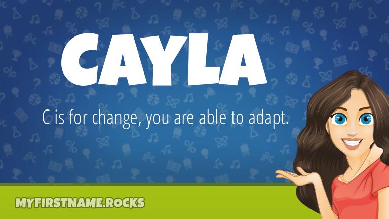My First Name Cayla Rocks!