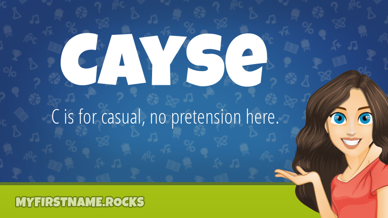 My First Name Cayse Rocks!