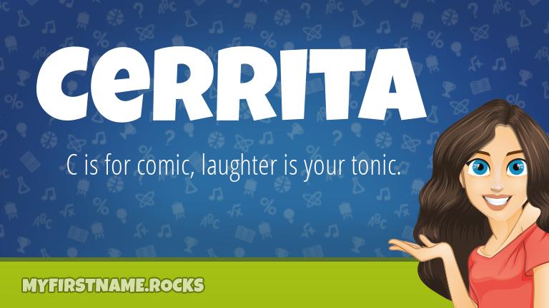 My First Name Cerrita Rocks!