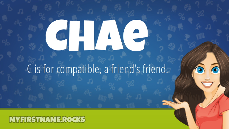 My First Name Chae Rocks!