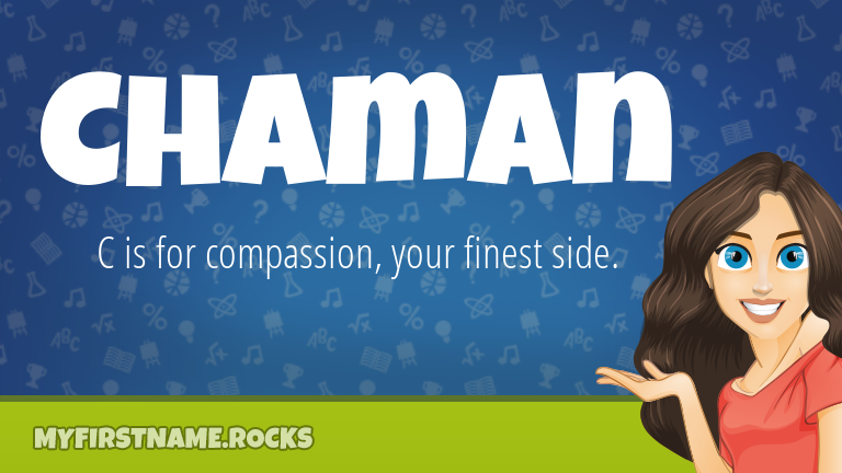 My First Name Chaman Rocks!