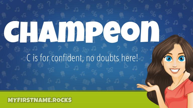 My First Name Champeon Rocks!