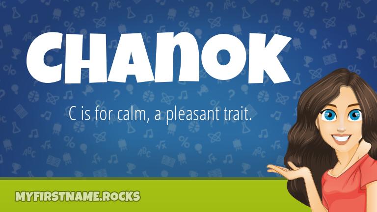 My First Name Chanok Rocks!