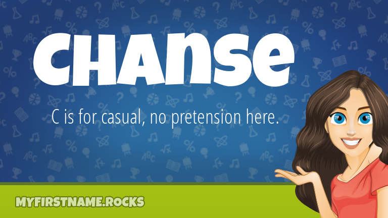 My First Name Chanse Rocks!