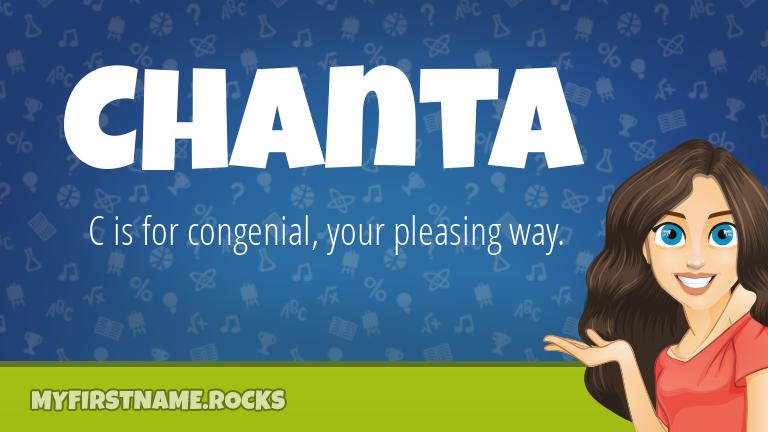 My First Name Chanta Rocks!
