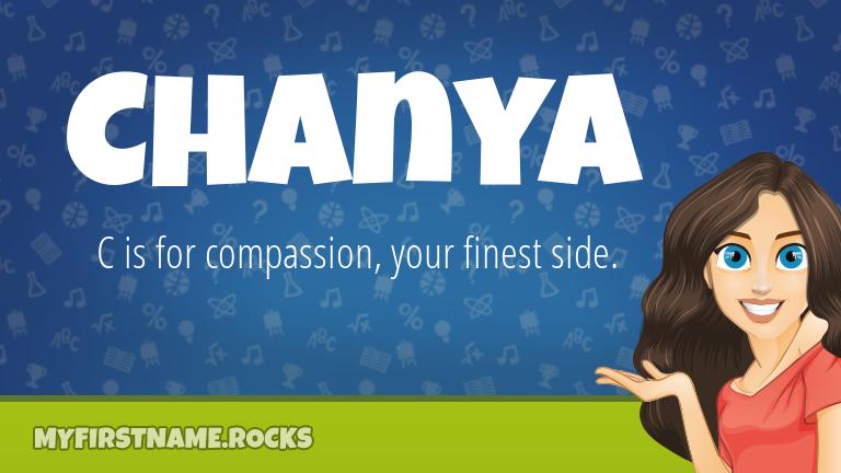 My First Name Chanya Rocks!