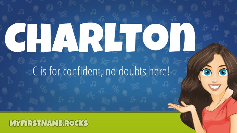 My First Name Charlton Rocks!