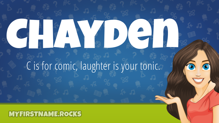 My First Name Chayden Rocks!