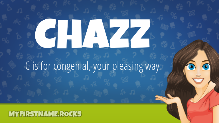 My First Name Chazz Rocks!