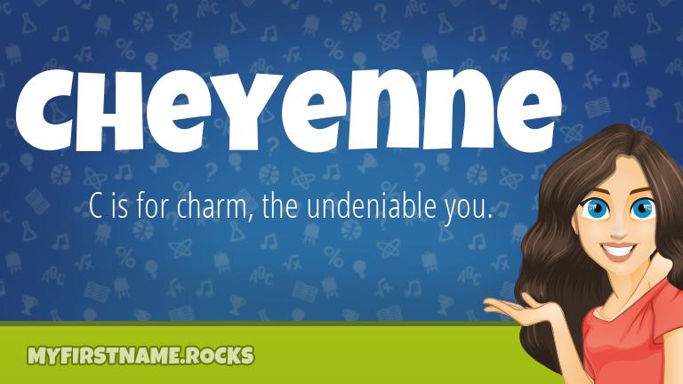 My First Name Cheyenne Rocks!