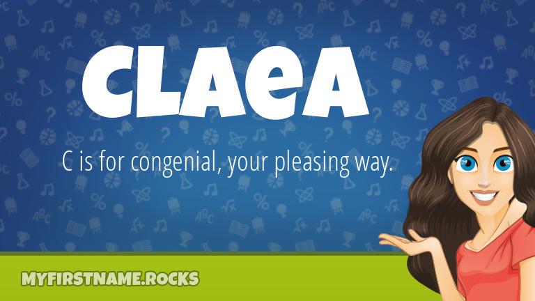 My First Name Claea Rocks!