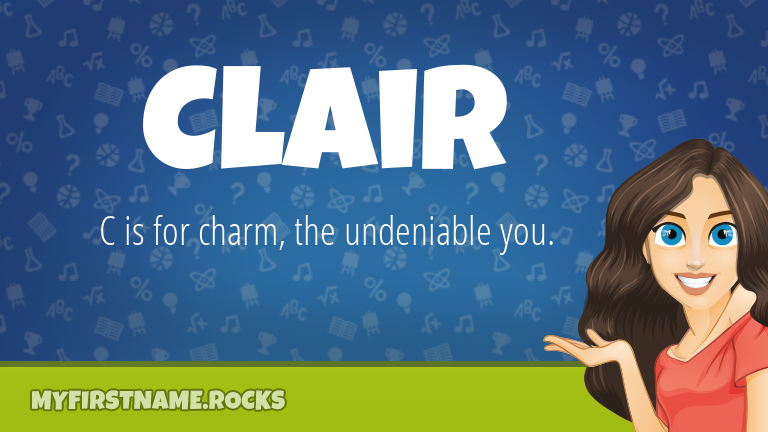 My First Name Clair Rocks!