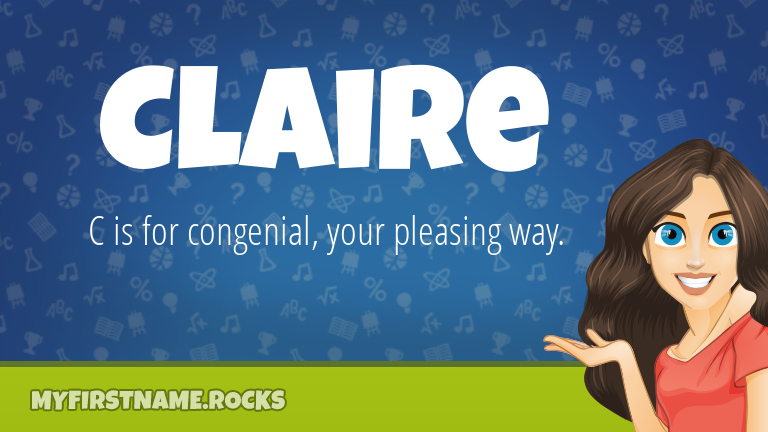 My First Name Claire Rocks!