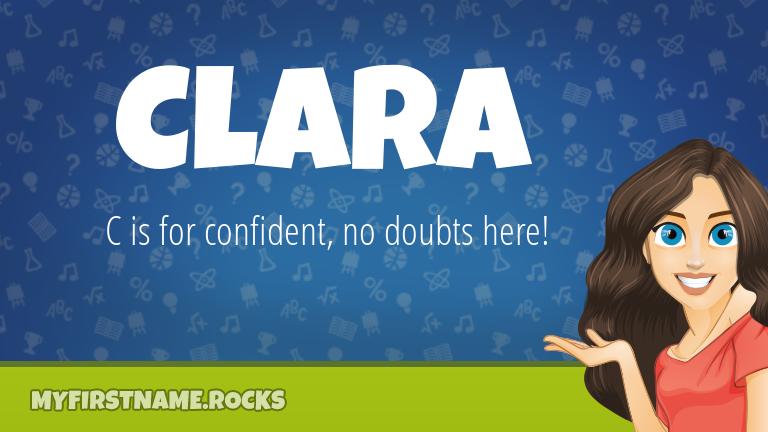 My First Name Clara Rocks!
