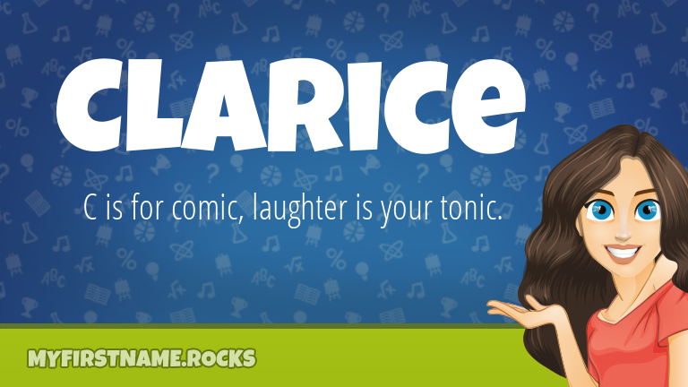 My First Name Clarice Rocks!