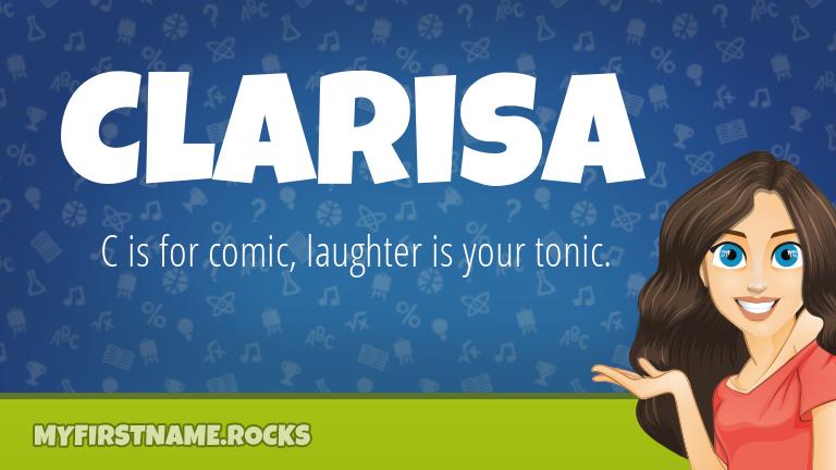 My First Name Clarisa Rocks!