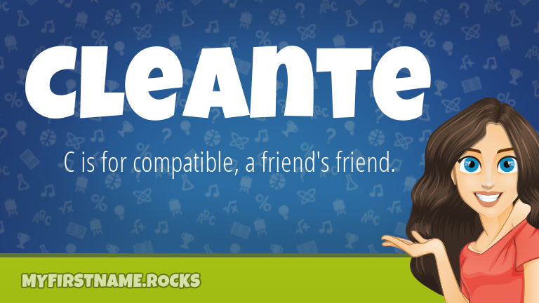 My First Name Cleante Rocks!