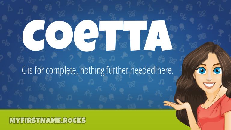 My First Name Coetta Rocks!