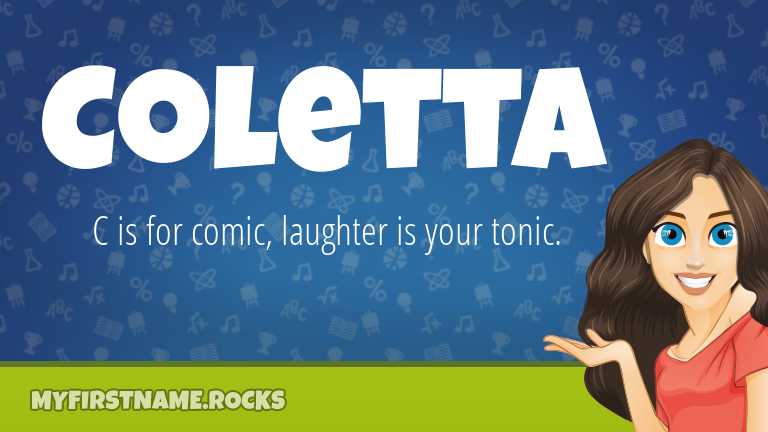 My First Name Coletta Rocks!