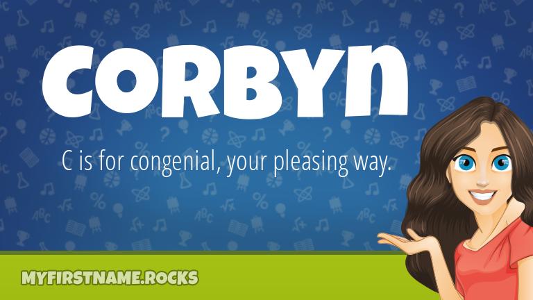 My First Name Corbyn Rocks!