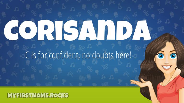 My First Name Corisanda Rocks!