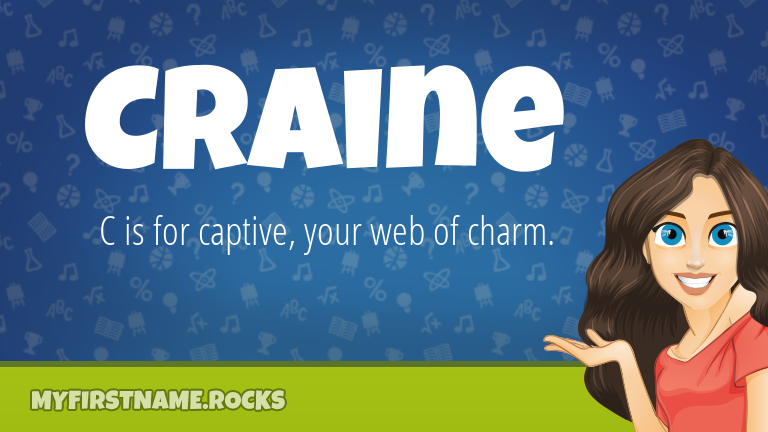 My First Name Craine Rocks!