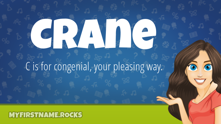 My First Name Crane Rocks!