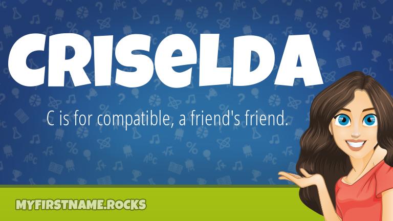 My First Name Criselda Rocks!
