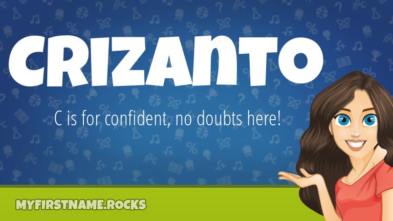 My First Name Crizanto Rocks!