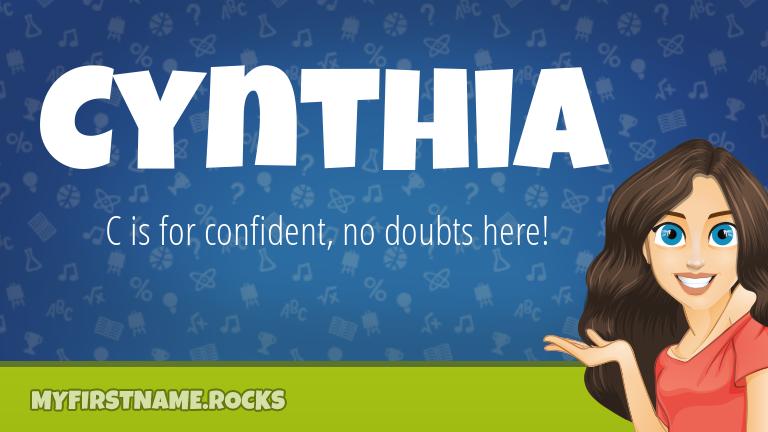 My First Name Cynthia Rocks!