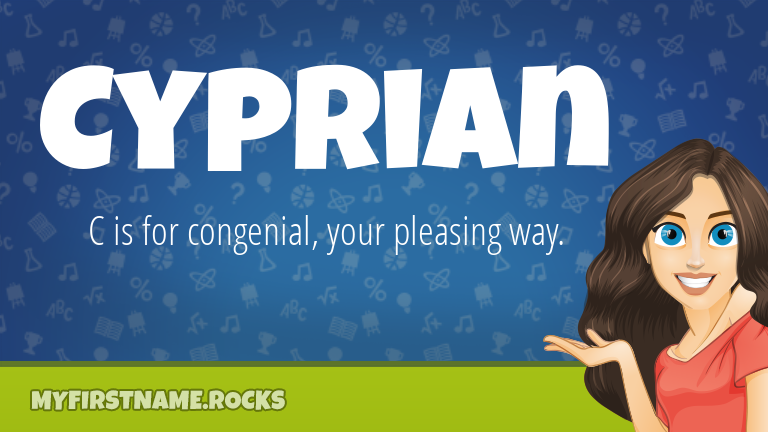 My First Name Cyprian Rocks!