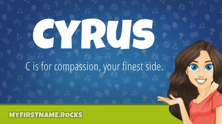 My First Name Cyrus Rocks!