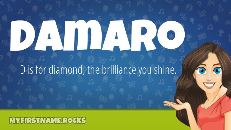 My First Name Damaro Rocks!
