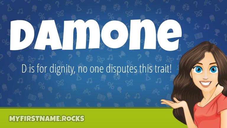 My First Name Damone Rocks!