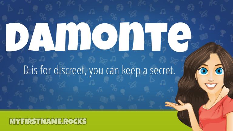 My First Name Damonte Rocks!