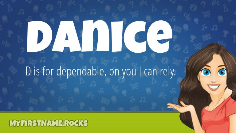 My First Name Danice Rocks!