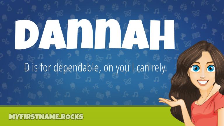 My First Name Dannah Rocks!