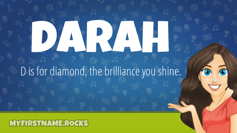 My First Name Darah Rocks!