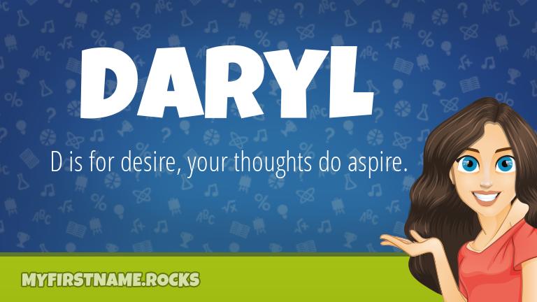 My First Name Daryl Rocks!
