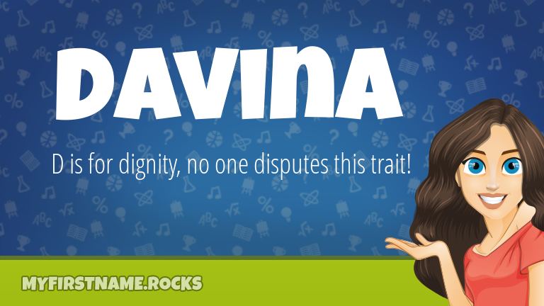 My First Name Davina Rocks!