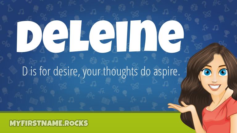 My First Name Deleine Rocks!